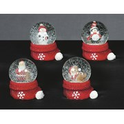 Waterglobe With Santa Hat Base 45mm (M0131405)